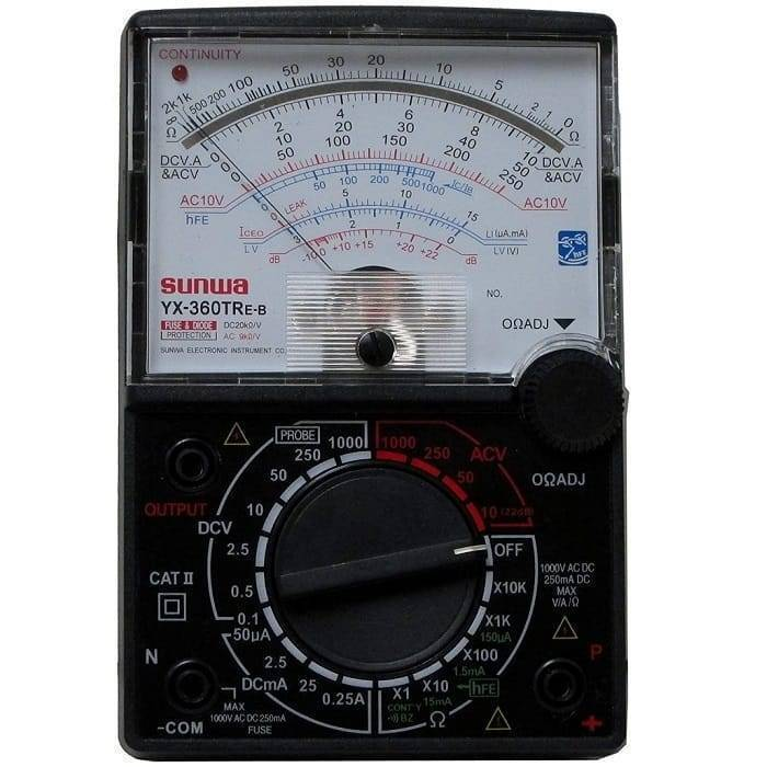 8 Function 19 Range Analog Multimeter YX360-TRE-B