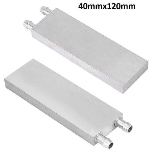 Aluminium Water Cooling Block 40mm X 120mm For Liquid Water Cooler Heat Sink system