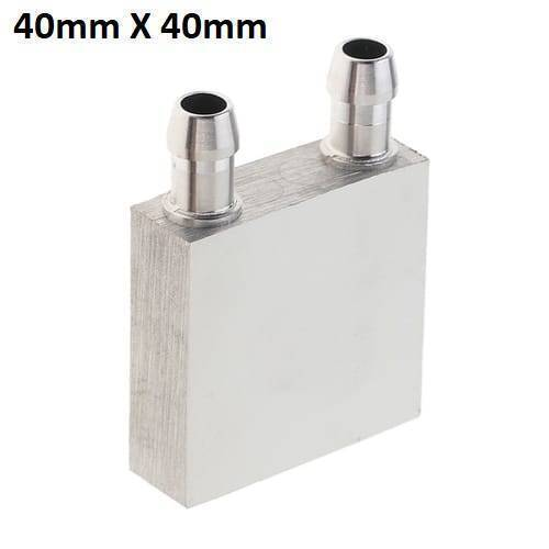 Aluminium Water Cooling Block 40mm X 40mm For Liquid Water Cooler Heat Sink system