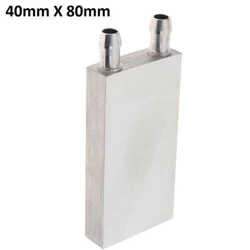 40mm X 80mm Aluminium Water Cooling Block  For Liquid Water Cooler Heat Sink system