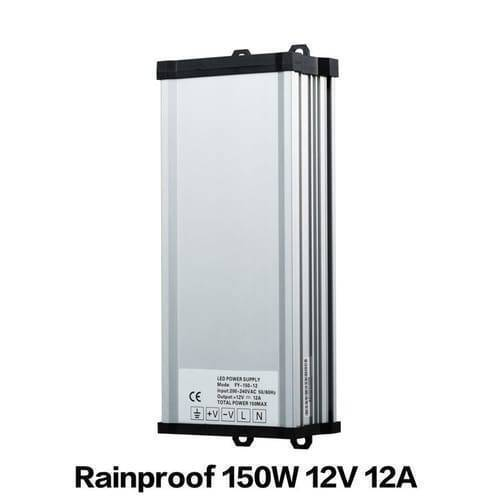 Rainproof Power Supply 12V 150W Outdoor SMPS For LED Landscape Lighting