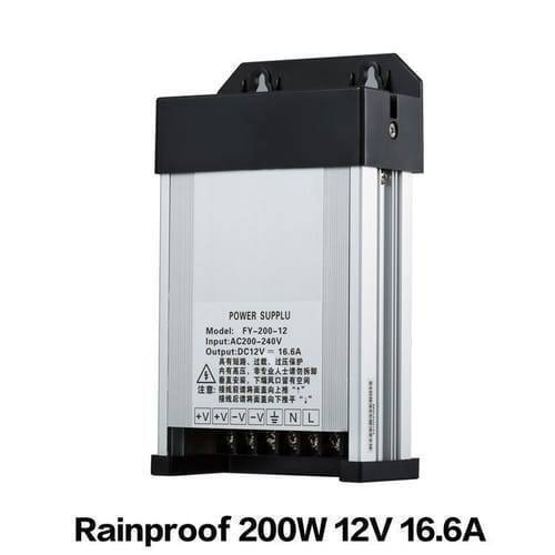 Rainproof Power Supply 12V 200W Outdoor SMPS For LED Landscape Lighting