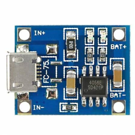 Micro USB TP4056 Lithium Battery 18650 Charger Module 1A 3.7V