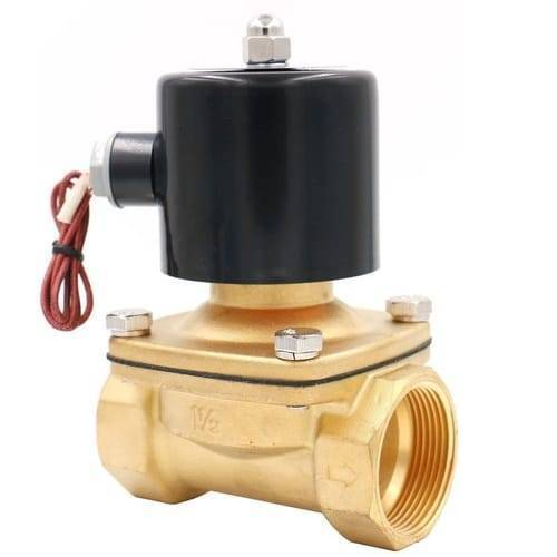 1.5 Inch 220V AC Brass Electric Solenoid Valve For Water Air Gas Fuels