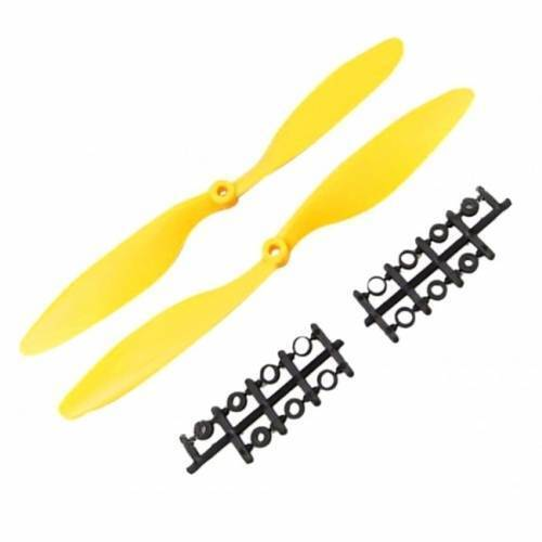 1045 Multiaxial CW CCW ABS Blade Propellers Yellow