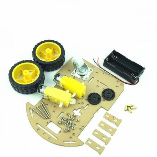 2WD DIY Transparent Motor Smart Robot Car Chassis Kit