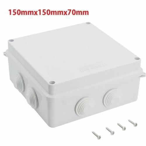 ABS Plastic Dust Proof Junction Box Universal Electrical Project Enclosure White 150mmx150mmx70mm