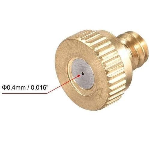 Brass Misting Nozzle 0.4mm Water Sprayer Fogging Nozzle
