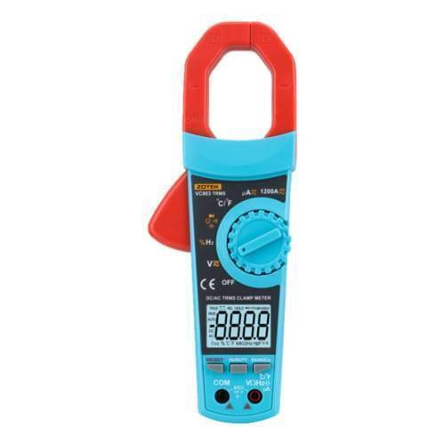 VC-903 hand held digital clamp meter auto range MAX AC and DC current up to 1200A with true RMS and self calibration function