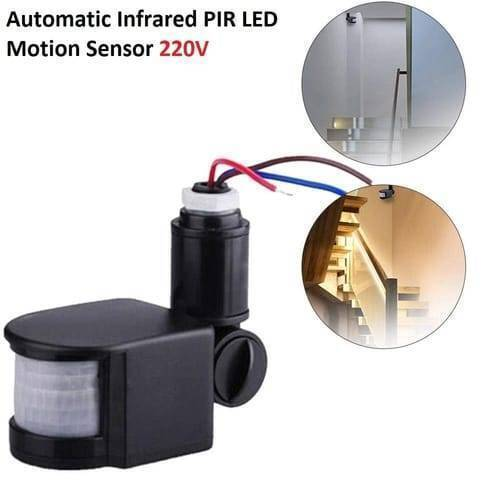 220V Automatic Infrared PIR LED Motion Sensor Detector Switch