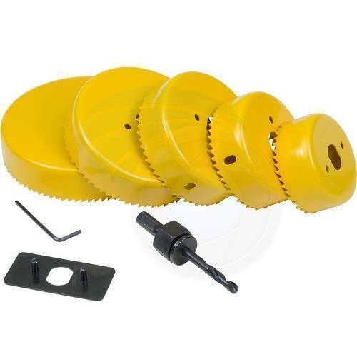 8 Pcs Carbon Steel Drill Cutter Hole Saw Kit Set