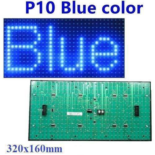 Blue P10 Outdoor LED Display Panel Module 5V 32x16 HUB12