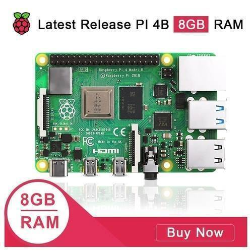 Raspberry Pi 4 8GB RAM Model B Quad Core CPU 1.5Ghz Development Board