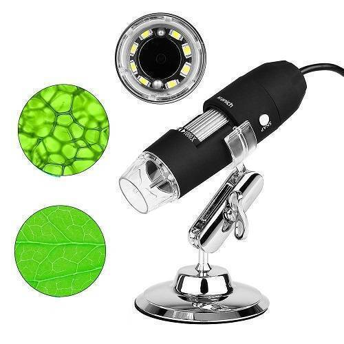 Digital USB 8 LEDs 1600X Magnifier Microscope