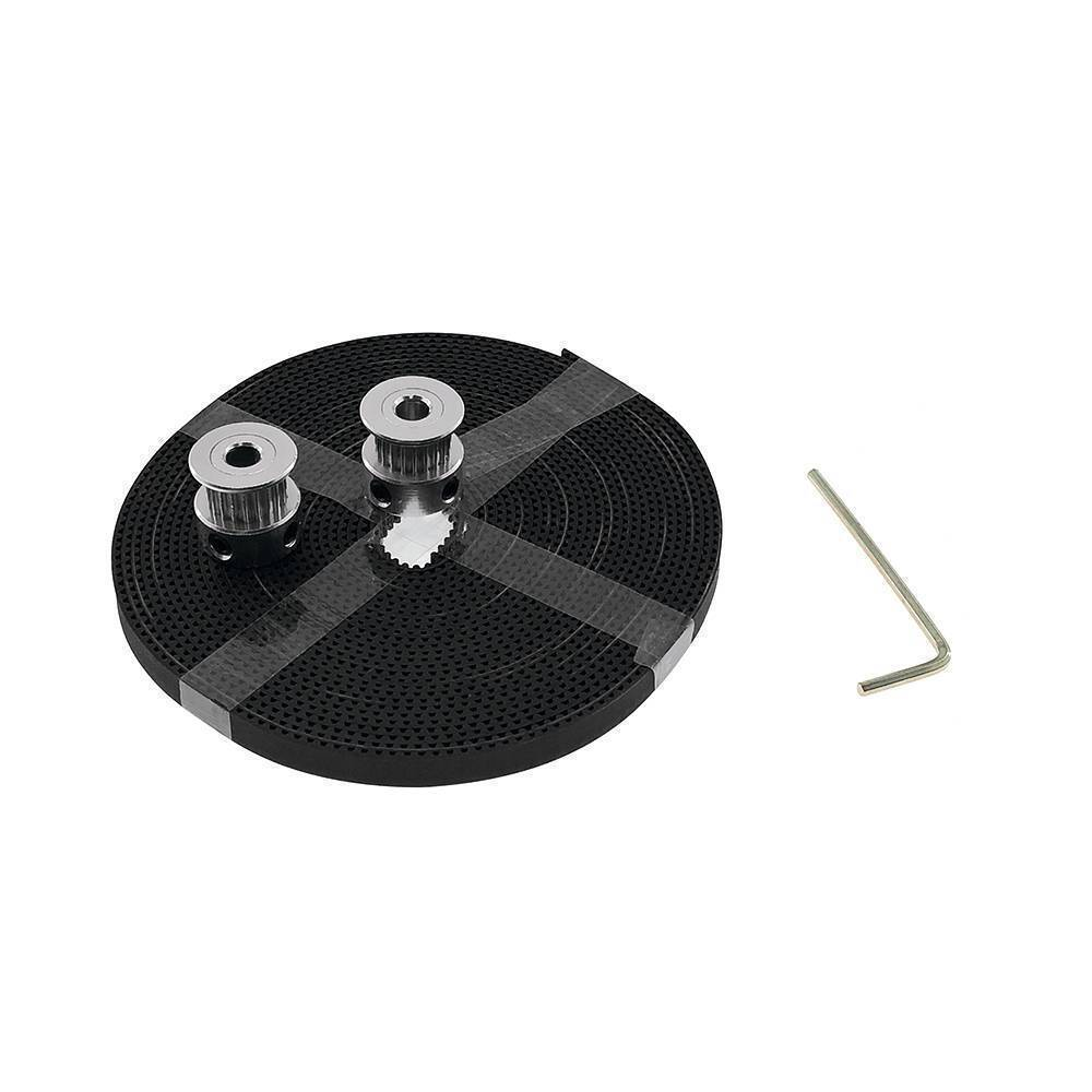 5mm 2 Meter GT2 Timing Belt with 2Pcs Of GT2 Pulley 16 Teeth