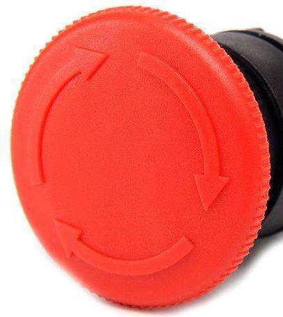Turn to release N/C Emergency Stop Mushroom Push Button Switch