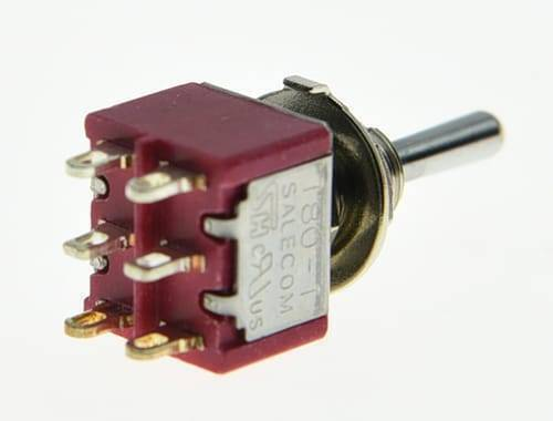 6 Pin 3 Way DPDT ON/ON/ON Guitar Mini Toggle Switch