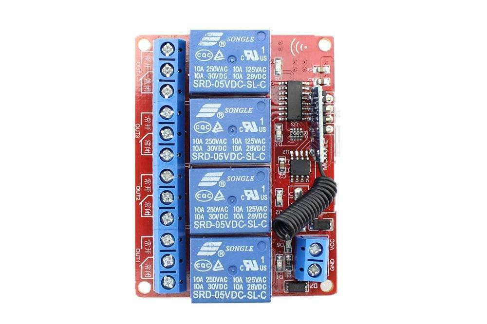 4 Channels RF Remote Control Module DC 12v