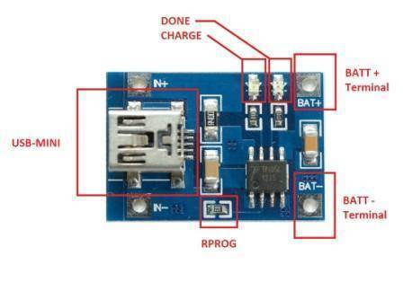 TP4056 1A LIPO Battery Charger Module