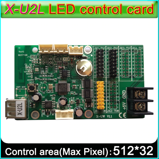 BX-U2L P10 led signs control card, P10 Display module control card,Single&double color advertising led panel Controller