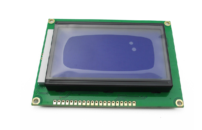 Graphical LCD 128×64 Green / Blue GLCD