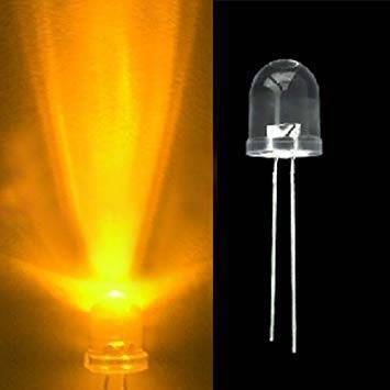 Large 10mm Yellow LED crystal
