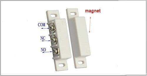 3 Wire NO NC Magnetic Reed Sensor Signal Switch For Door Access Control