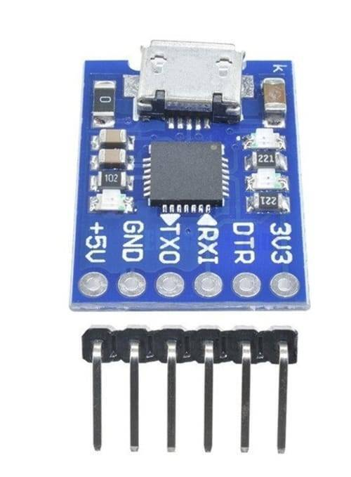 6 Pin CP2102 Micro USB to UART TTL Module Programmer