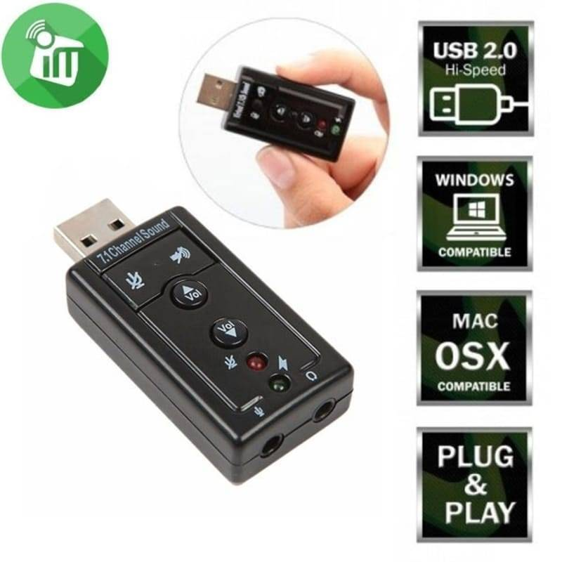 7.1 Channel USB External Sound Adapter