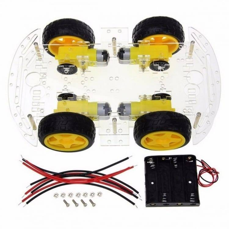 4WD Smart Robot Car Chassis Kit For Arduino