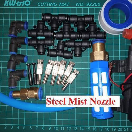 Disinfection Gate Misting System Accessory With Steel Nozzle