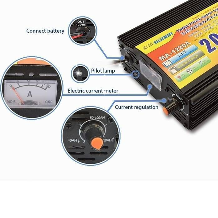 20A 12V Battery Charger MA-1220