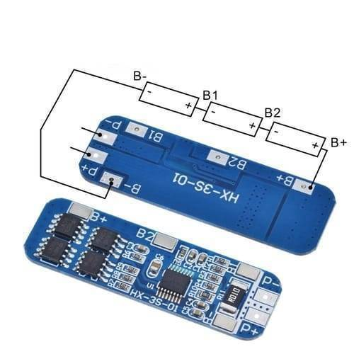 Lithium Battery 3S 12V 10A Charge Protection Board BMS PCM for 18650 Li-ion Cells Charging