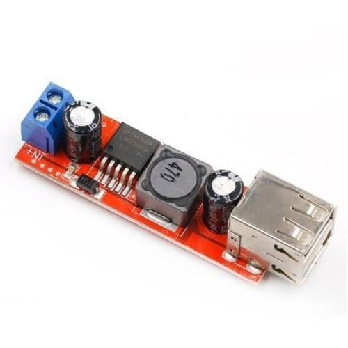 Vehicle Battery Charger 3A Dual USB Output LM2596 Buck Converter
