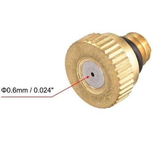 0.6mm Orifice Dia 9mm Long Brass Mist Nozzle
