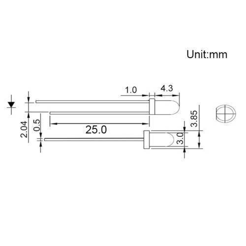 3mm Photodiode IR Infrared Receiver