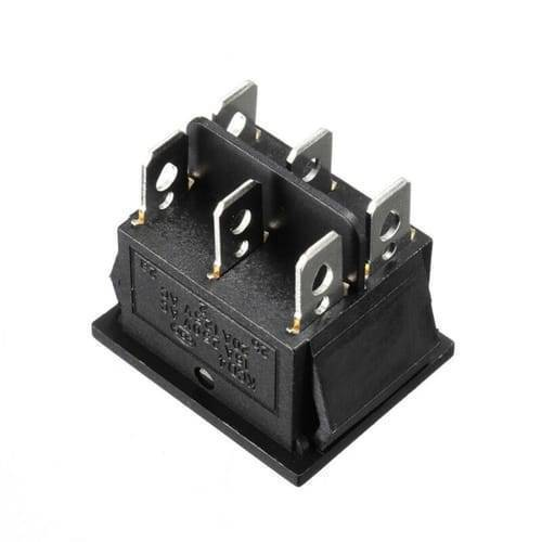 6 Pin 3 Position DPDT Rocker Switch ON OFF ON Power Button Switch