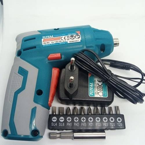TOTAL 4V Electric Rechargeable Cordless Screwdriver Kit