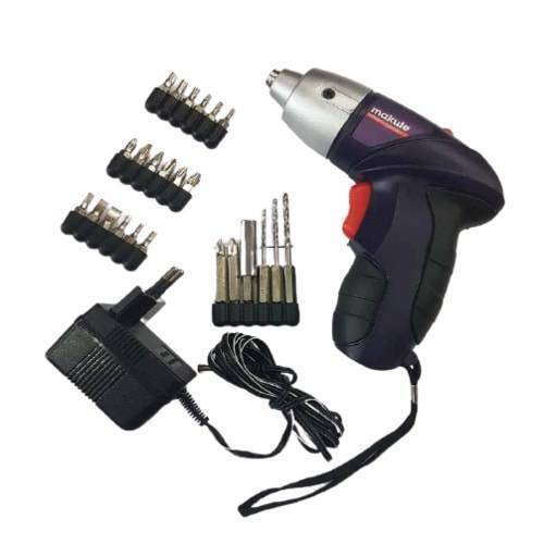 26 Pcs 4.8V Wireless Rechargeable Cordless Screwdriver Drill Machine Kit