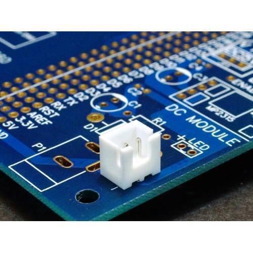 2 Pin 2.5mm JST XH Style PCB Mount Male Connector