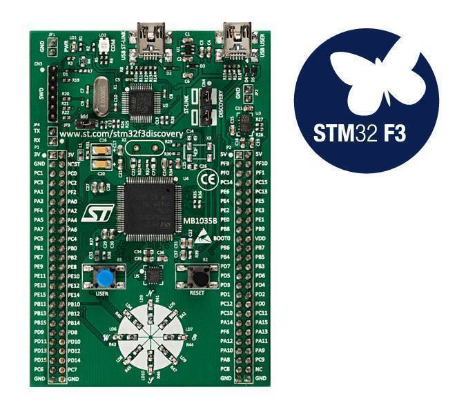 STM Discovery Kit  STM32F3 STM32F303VC With Programming Cable