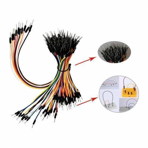65pcs Jump Wire Cable Male to Male Jumper Wire for Arduino Breadboard 1 bag