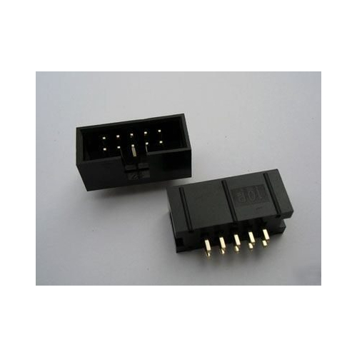DC3-10P JTAG ISP socket straight IDC Box headers connector 10 Pins 2x5 2.54mm Pitch Box headers 10P FEMP ALE connector