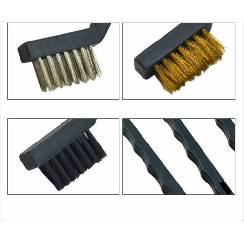 3Pcs Wire Brush Stainless Steel Nylon Brass Wire Brushes Cleaning Rust Kit Polishing Metal Rust Clean Tools
