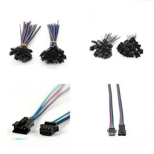 4 Pin SM Connector Male to Female 4pin SM Connector Cable for RGB LED Strip