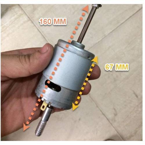 DC 12V 100W  775 High Speed Long Shaft Motor Large Torque DC Motor Electrical Tool Electrical Machinery