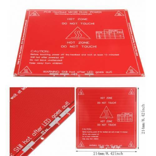 3D printer PCB Heated Bed MK2B 12v and 24v in pakistan