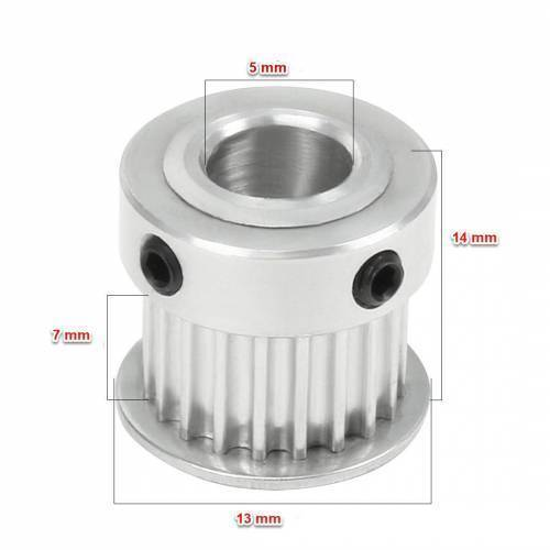GT2 Pulley 16 Teeth Bore 5MM Timing Gear Alumium For GT2 Belt Width 13MM 3D Printer Accessories