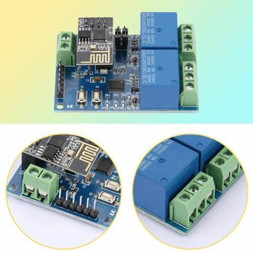 5V ESP8266 Dual-Channel Wifi Relay Smart Home Mobile APP Remote Control Switch In Pakistan