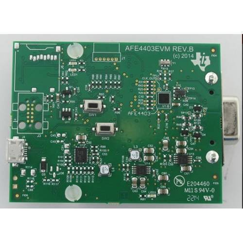 AFE4403 Integrated AFE for Heart-Rate Monitors and Pulse Oximeters Evaluation Board